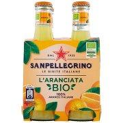 Sanpellegrino Bibite Gassate, L'Aranciata Bio 20 Cl x 4 (Vetro)