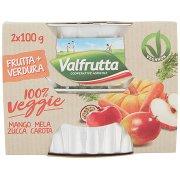 Valfrutta 100% Veggie Mango Mela Zucca Carota 2 x 100 g