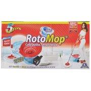 Super5 Rotomop 360° Kit Secchio + Mop con Frange in Microfibra 100% Trasparente - Special Edition