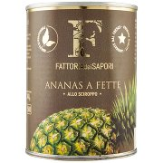 Fattoria dei Sapori Ananas a Fette allo Sciroppo