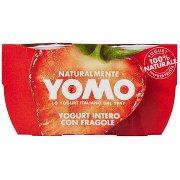 Yomo Yogurt Intero con Fragole 2 x 125 g