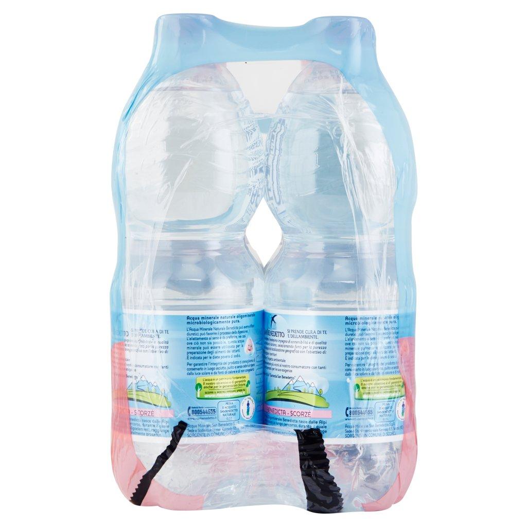 San Benedetto Acqua Minerale Benedicta Naturale 6 x 0,5 l Imballaggio 6 Bottiglie Da 0,5 L 3