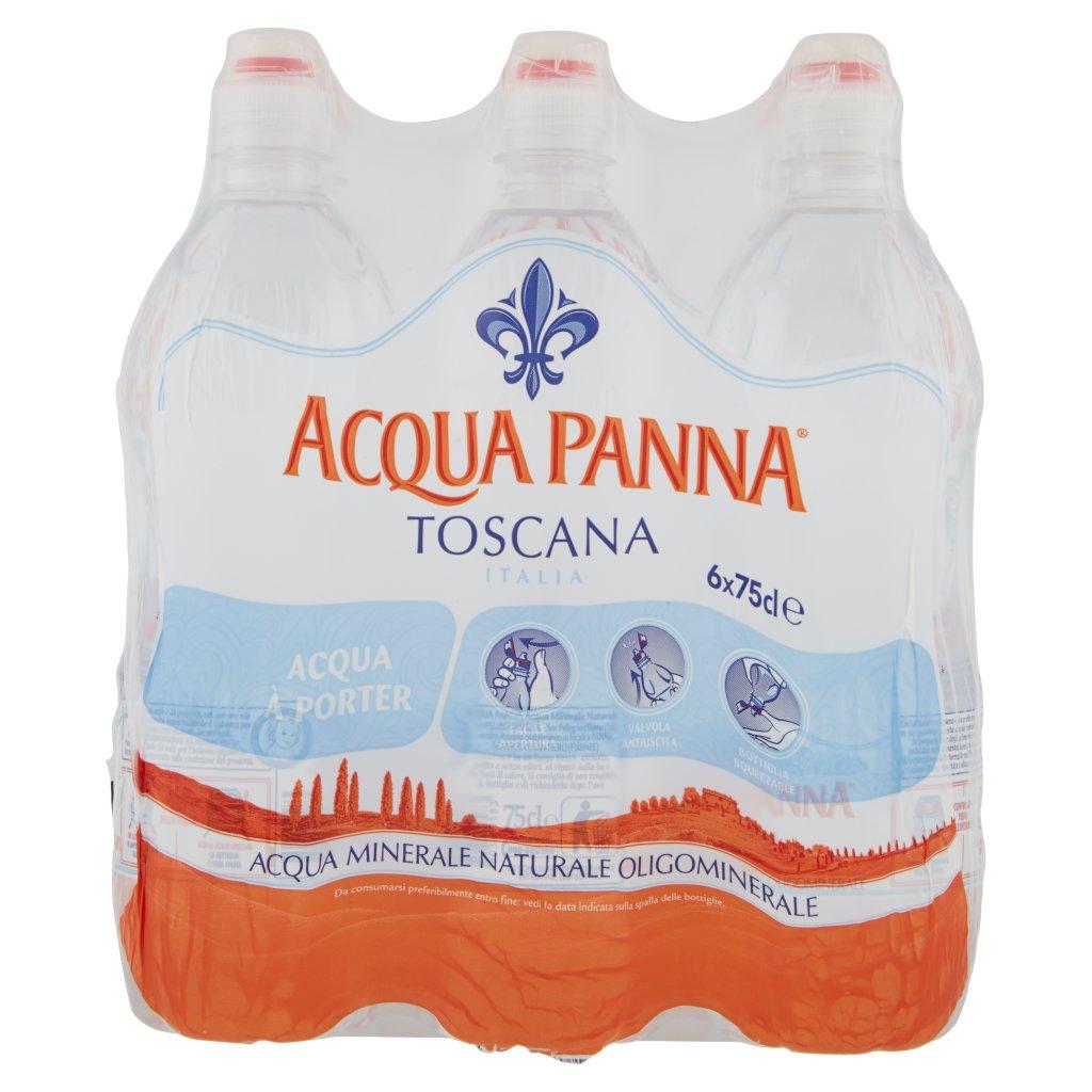Acqua Panna , Acqua Minerale Oligominerale Naturale 75cl x 6. Imballaggio 6X75Cl 2