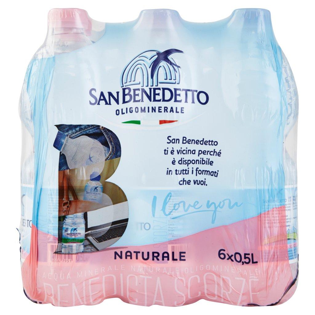 San Benedetto Acqua Minerale Benedicta Naturale 6 x 0,5 l Imballaggio 6 Bottiglie Da 0,5 L 2