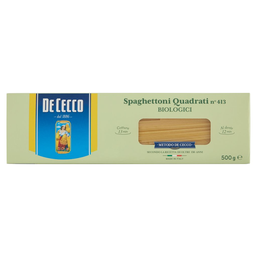 De Cecco Spaghettoni Quadrati N°413 Biologici