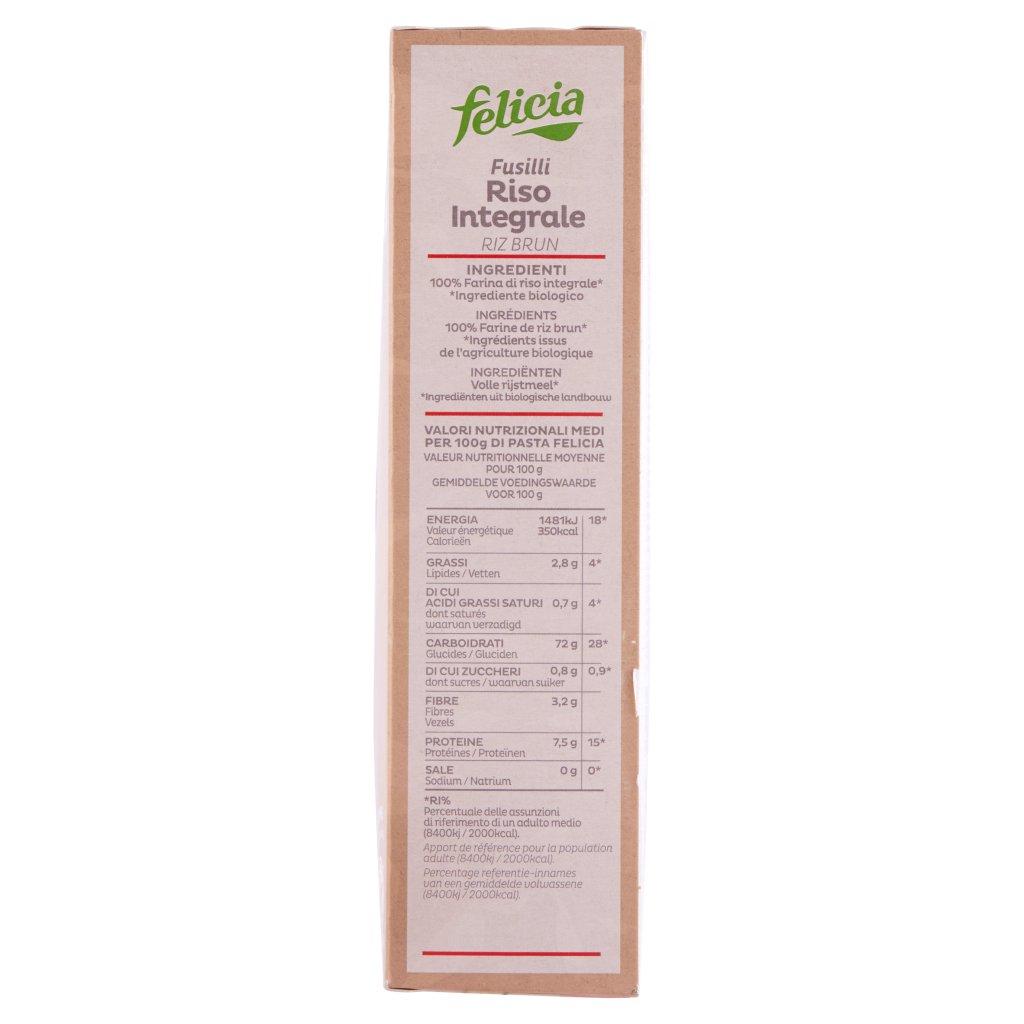 Felicia Fusilli Riso Integrale Bio Confezione 340 G 4