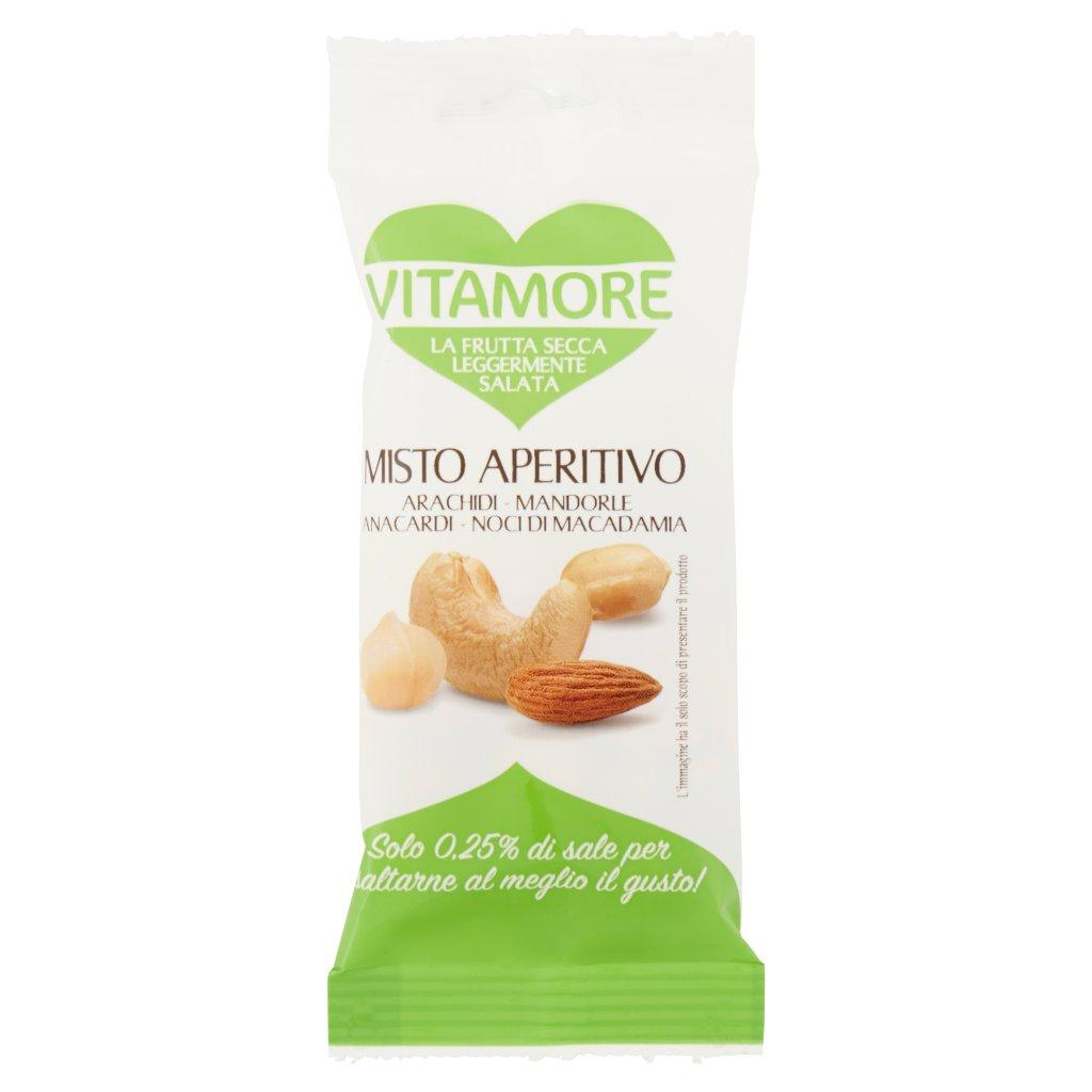 Vitamore Misto Aperitivo Arachidi - Mandorle - Anacardi - Noci di Macadamia