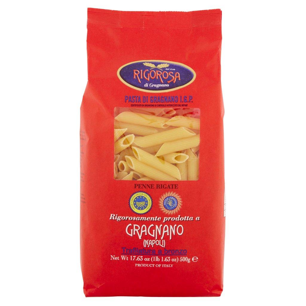 Rigorosa di Gragnano Pasta di Gragnano I.G.P. Penne Rigate