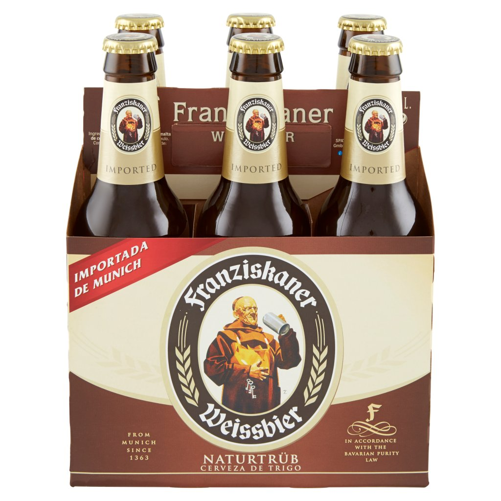 Franziskaner Franziskaner Birra Weisse Bavarese Bottiglia 6x35,5cl