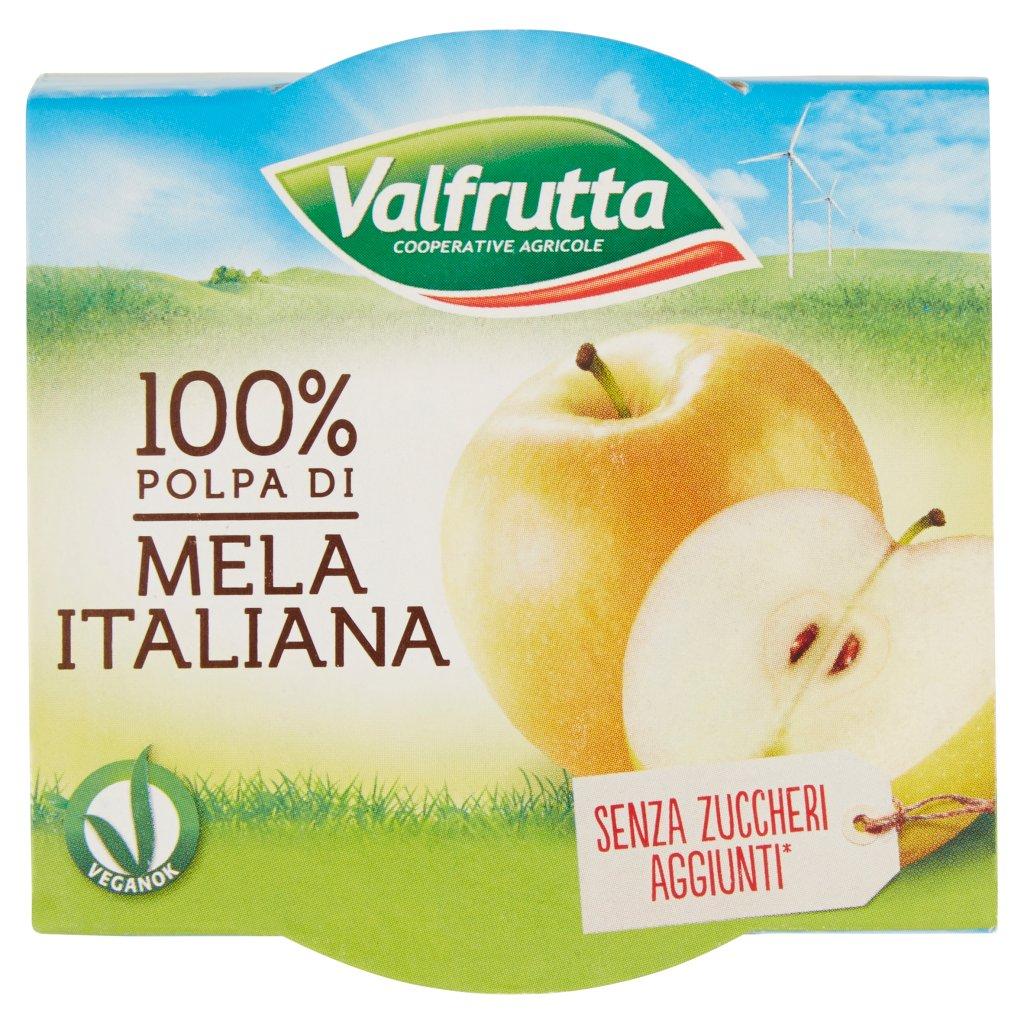 Valfrutta 100% Polpa di Mela Italiana 2 x 100 g Confezione 200 G 1