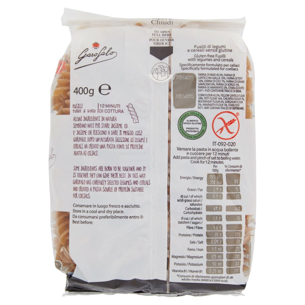 Garofalo Fusilli Legumi e Cereali senza Glutine
