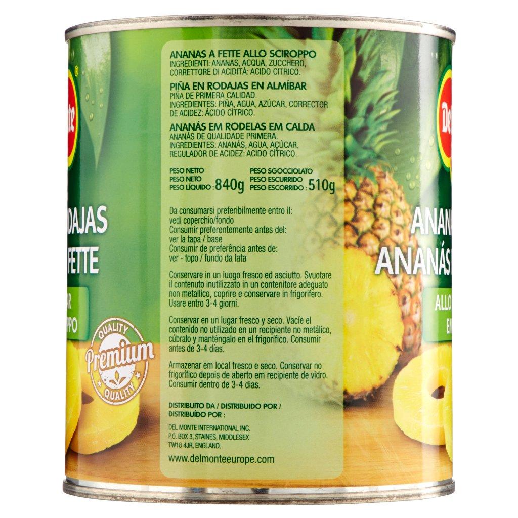 Del Monte Ananas a Fette allo Sciroppo Confezione 840 G 3