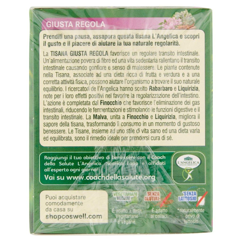 L'angelica Nutraceutica le Tisane Giusta Regola 20 Filtri