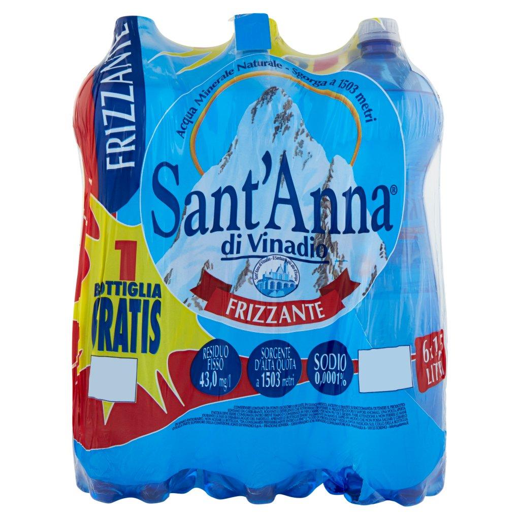 Sant'anna Frizzante Sorgente Vinadio 6 x 1,5 Litri Imballaggio 6 Bottiglie Da 1,5 L 1