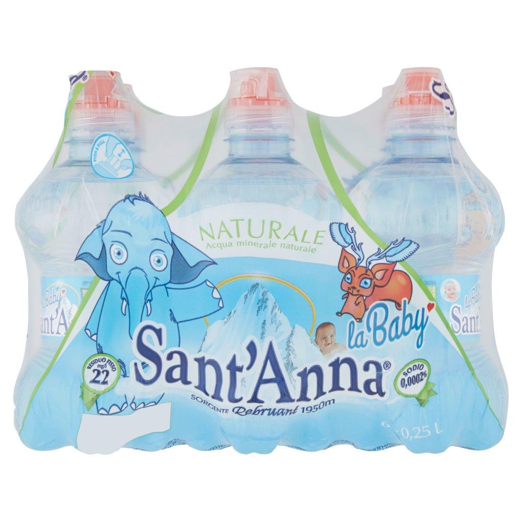 Sant'anna La Baby Naturale Sorgente Rebruant Vinadio 6 x 0,25 l Imballaggio 6 Bottiglie Da 0,25 L 1