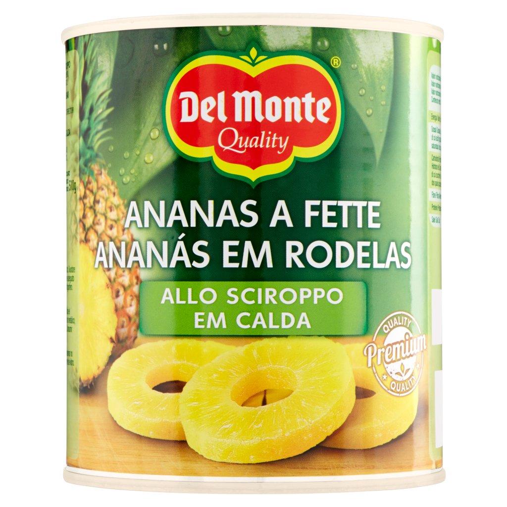Del Monte Ananas a Fette allo Sciroppo Confezione 840 G 1