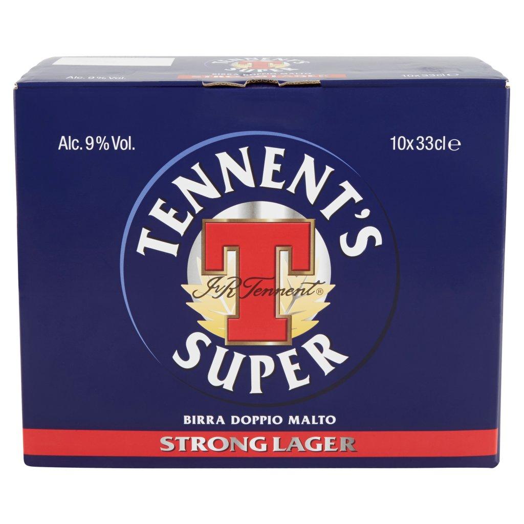 Tennent's Tennent's Super Birra Strong Lager Doppio Malto Bottiglia 10x33cl