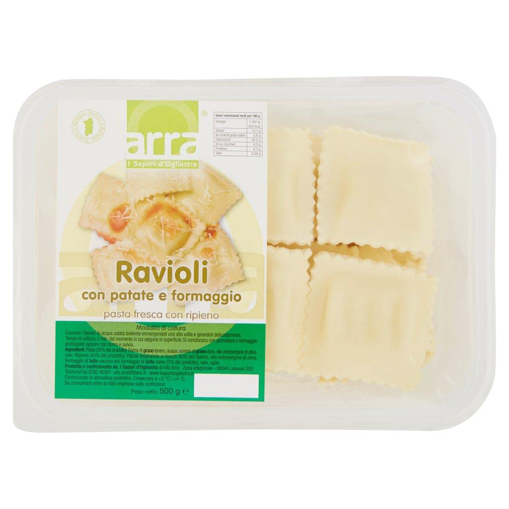 Arra Ravioli con Patate e Formaggio