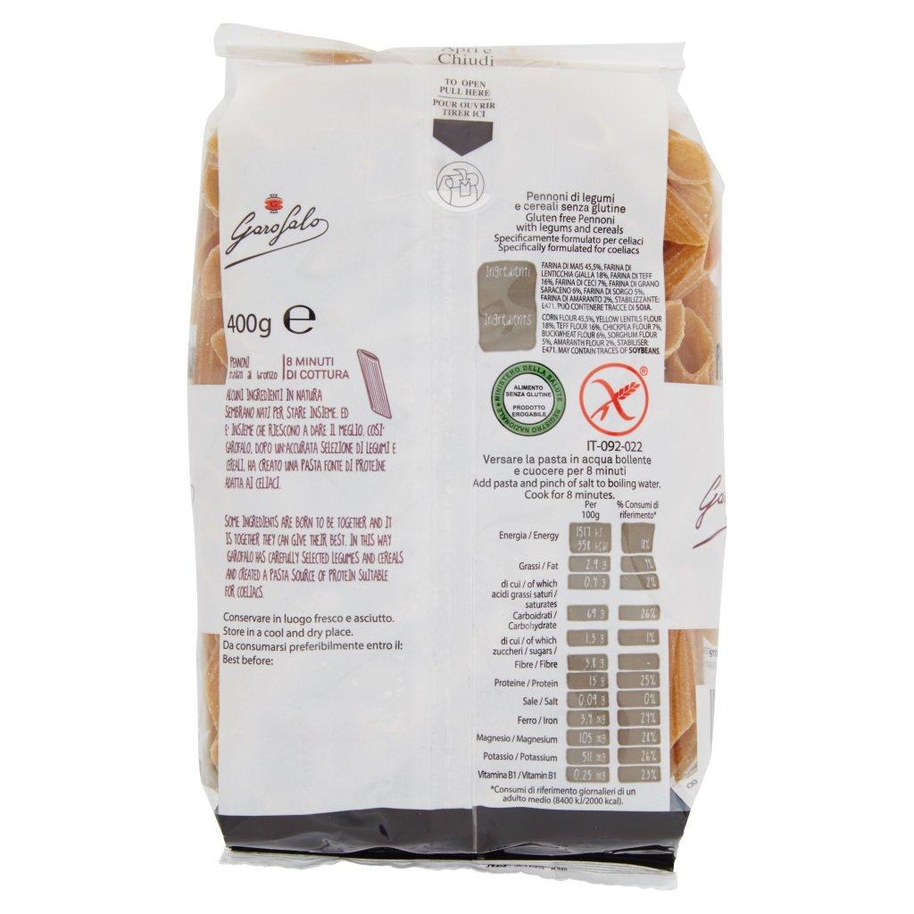 Garofalo Pennoni Legumi e Cereali senza Glutine