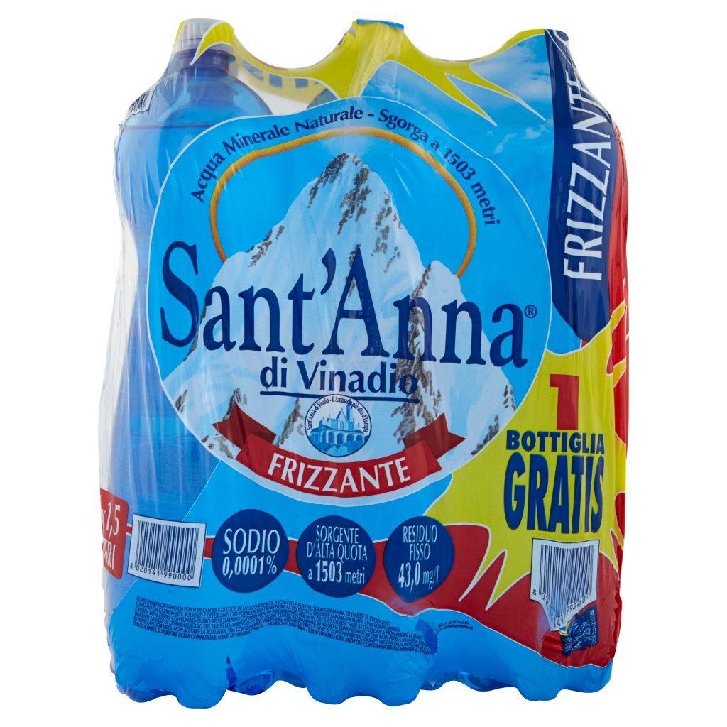 Sant'anna Frizzante Sorgente Vinadio 6 x 1,5 Litri Imballaggio 6 Bottiglie Da 1,5 L 2