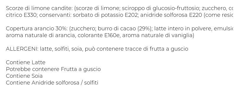 Francesca Filetti di Limone con Copertura Gusto Arancia