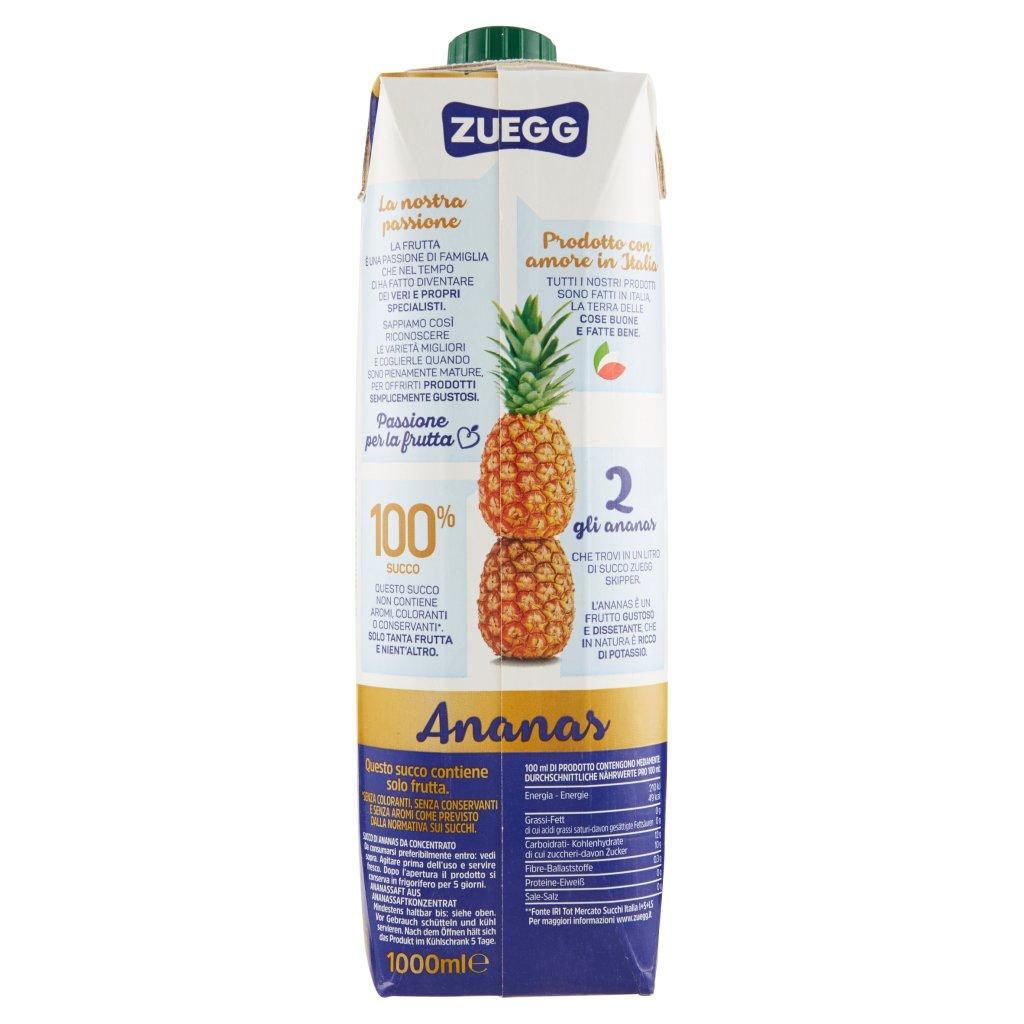 Zuegg Skipper 100% Succo Ananas Confezione 1000 Ml 2