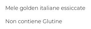 Melinda Melamangio 100% Mela Essiccata Rondelle