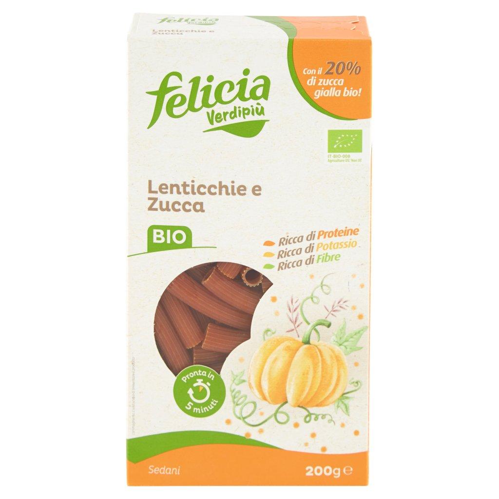 Felicia Verdipiù Sedani Lenticchie e Zucca Bio