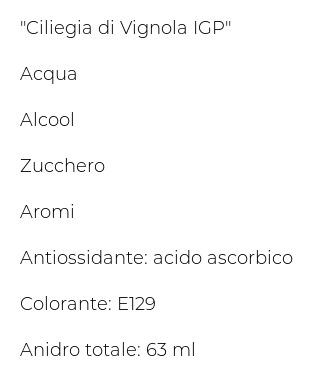 """Toschi Ciliegie Spiritose con """"ciliegia di Vignola Igp"""""""