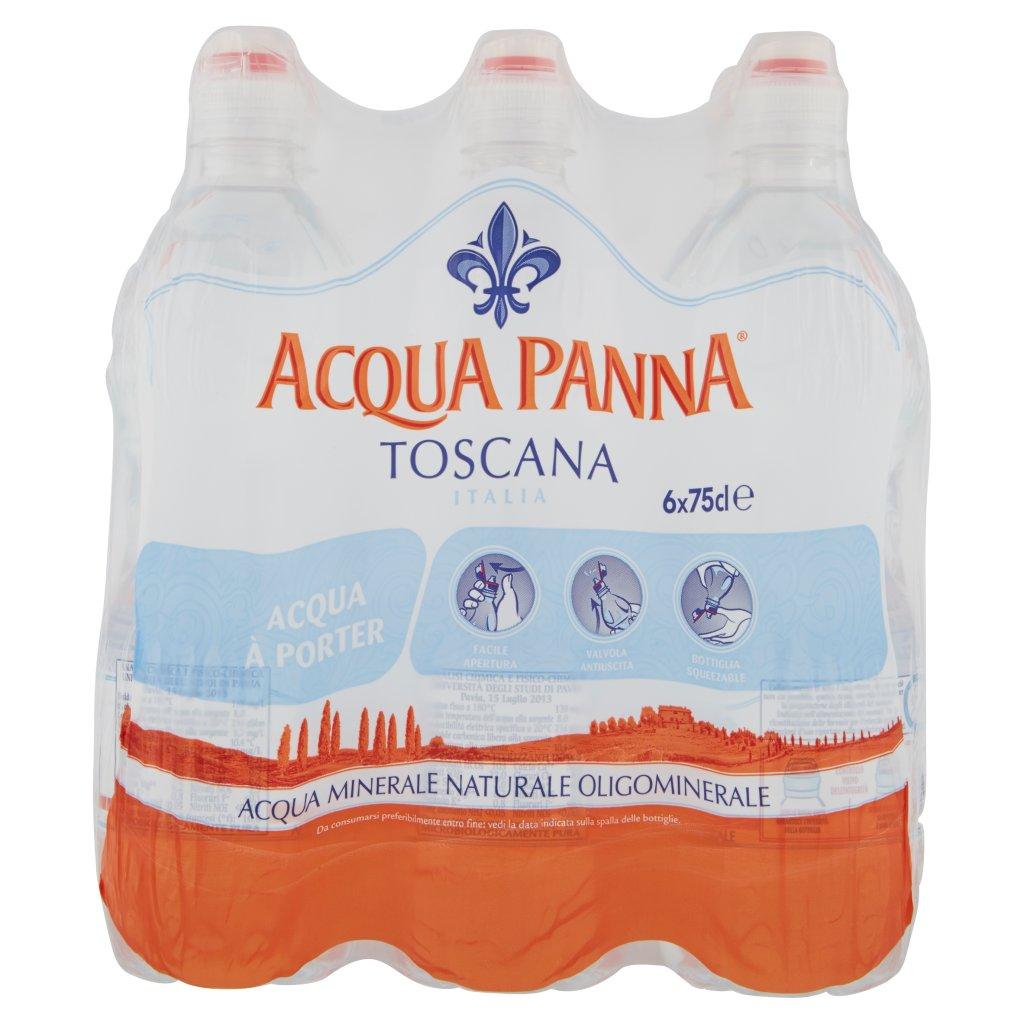 Acqua Panna , Acqua Minerale Oligominerale Naturale 75cl x 6. Imballaggio 6X75Cl 1