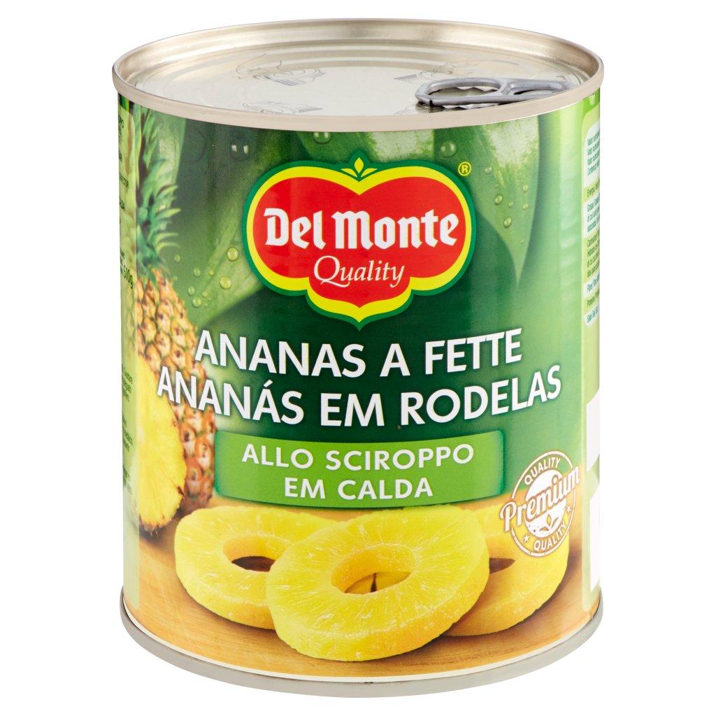 Del Monte Ananas a Fette allo Sciroppo Confezione 840 G