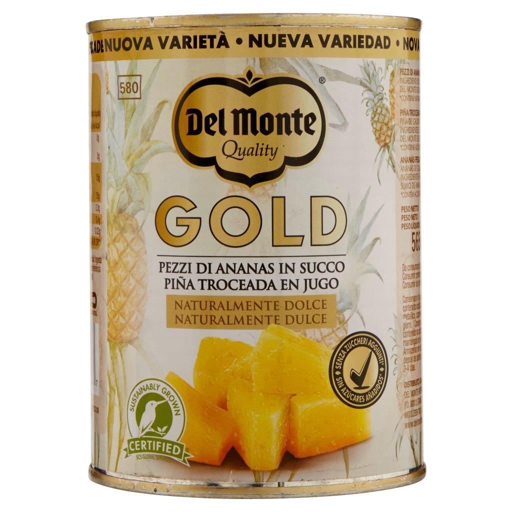 Del Monte Gold Pezzi di Ananas in Succo