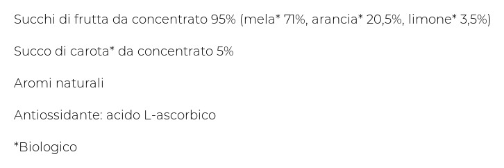 Bio Mela Arancia Carota Limone  Logico 200 Ml