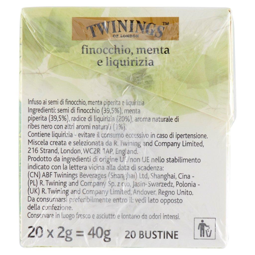 Twinings Infuso Aromatizzato Finocchio, Menta e Liquirizia..