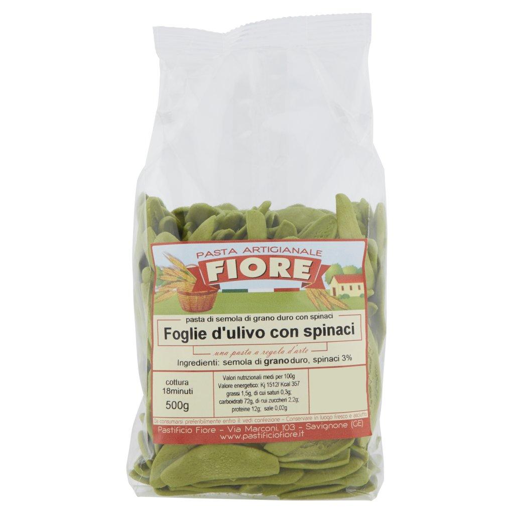 Fiore Foglie d'Ulivo con Spinaci