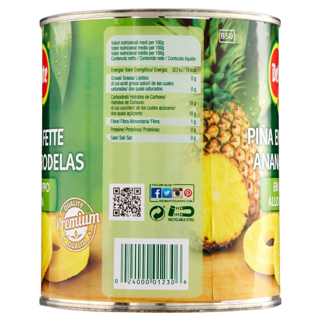 Del Monte Ananas a Fette allo Sciroppo Confezione 840 G 4