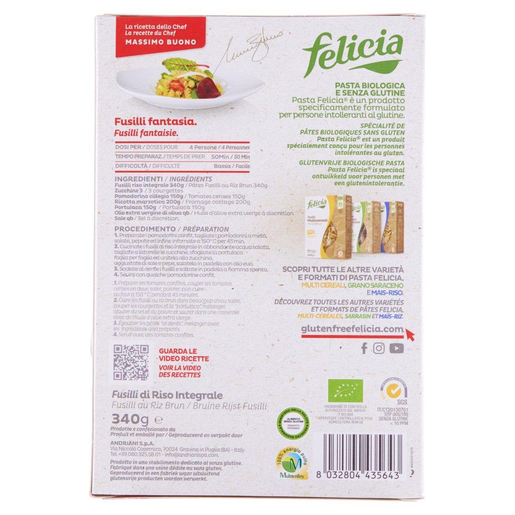 Felicia Fusilli Riso Integrale Bio Confezione 340 G 2