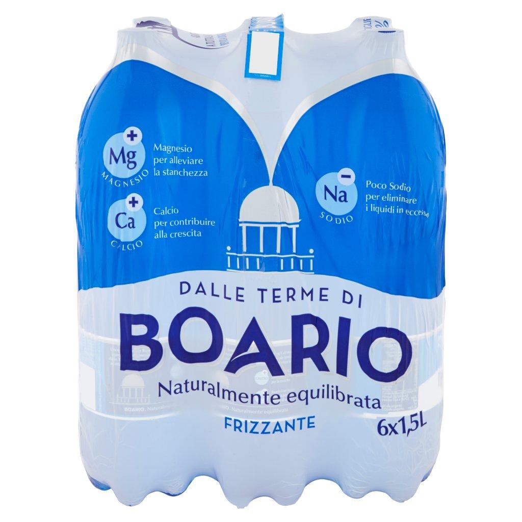 Boario Frizzante 6 x 1,5 l Imballaggio 6 Bottiglie Da 1,5 L