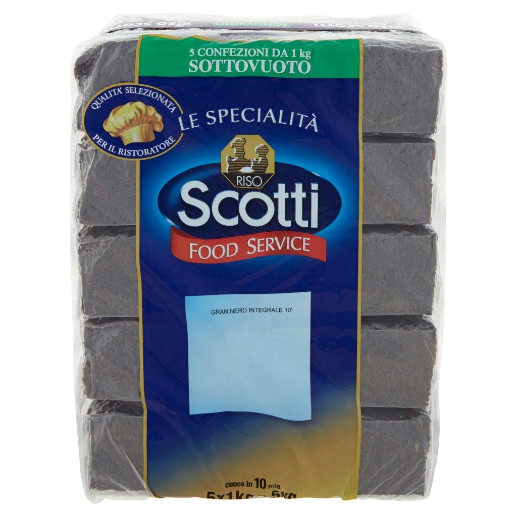 Riso Scotti Food Service Le Specialità Gran Nero Integrale 10' 5 x 1 Kg