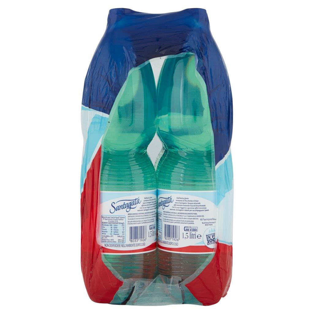 Santagata Acqua Minerale Effervescente Naturale 6 x 1,5 Litri