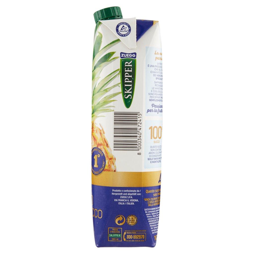 Zuegg Skipper 100% Succo Ananas Confezione 1000 Ml 4