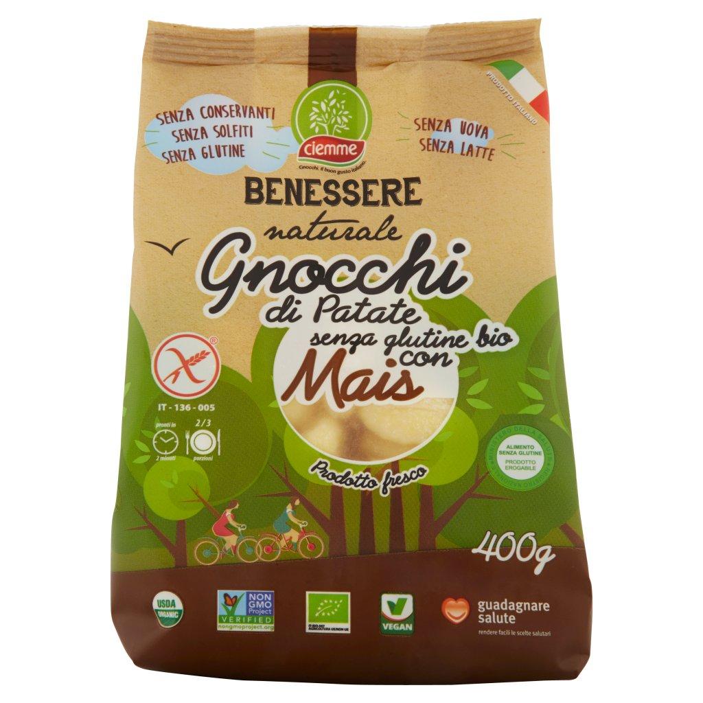 Ciemme Benessere Naturale Gnocchi di Patate senza Glutine Bio con Mais