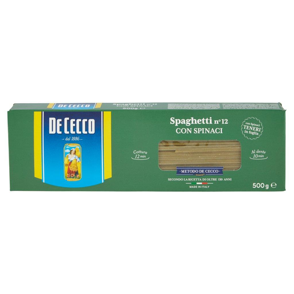 De Cecco Spaghetti N° 12 con Spinaci