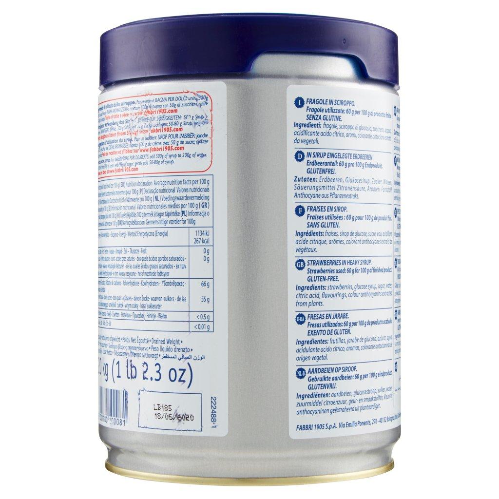 Fabbri Fragola Frutto e Sciroppo 1,250 Kg Confezione 1.250 Kg 2