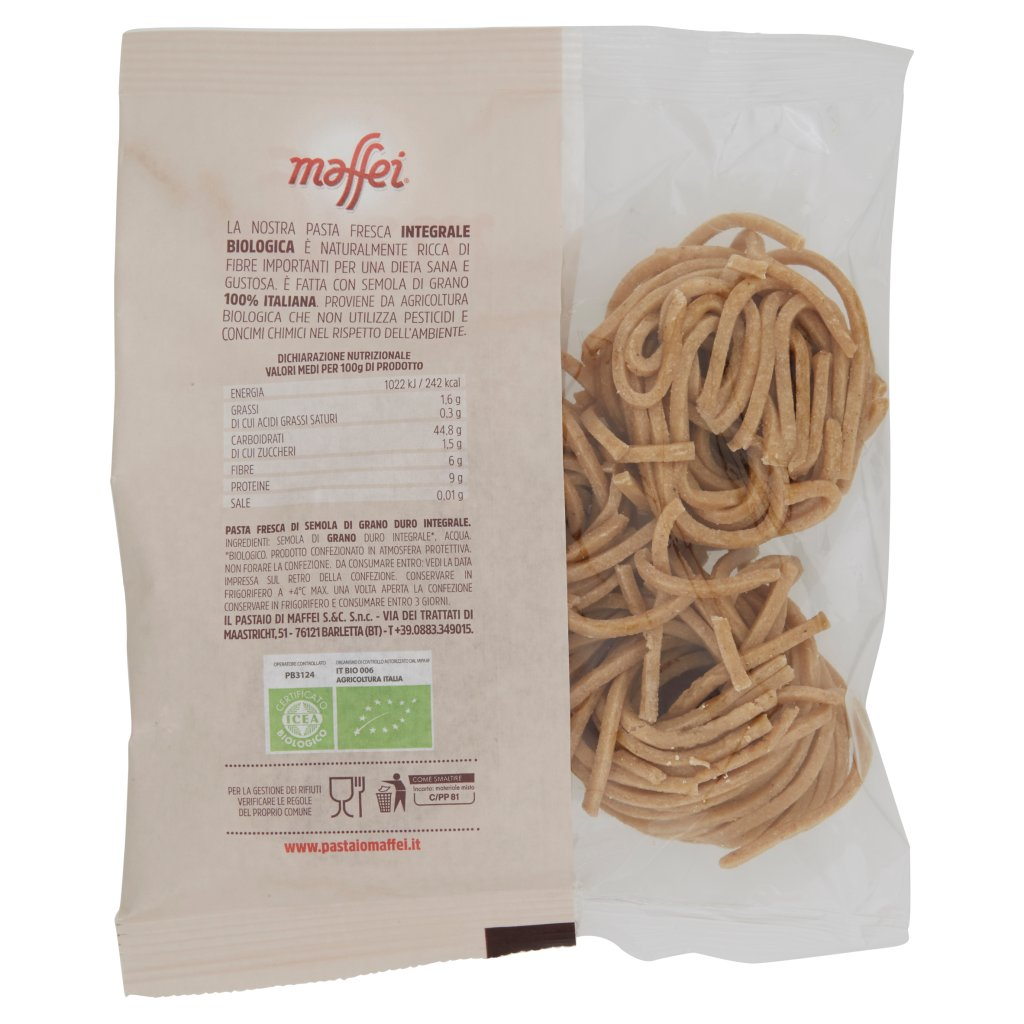 Maffei Spaghetti alla Chitarra Grano Decorticato a Pietra 100% Integrale Bio