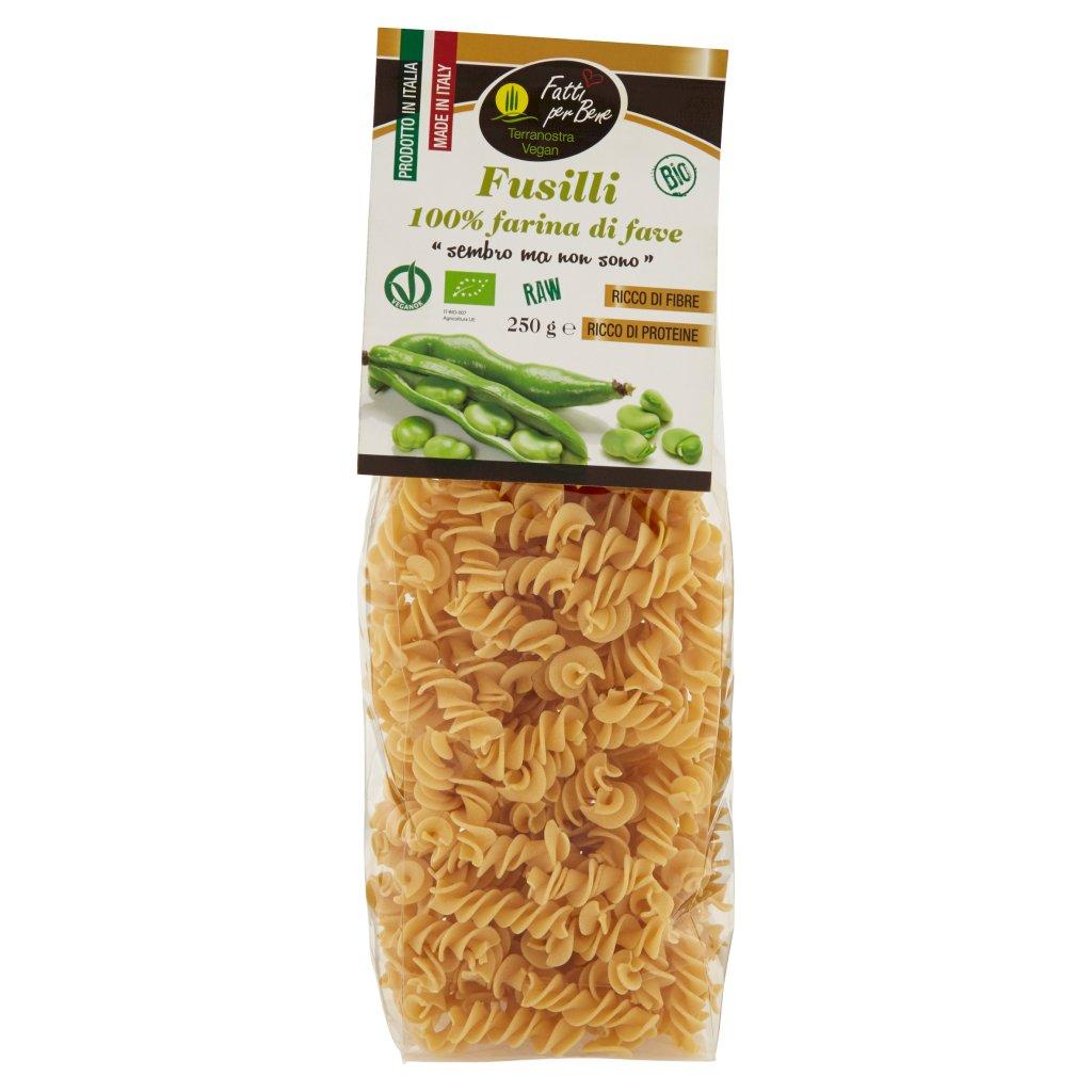 Terranostra Vegan Bio Fusilli 100% Farina di Fave