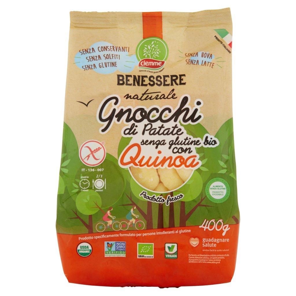 Ciemme Benessere Naturale Gnocchi di Patate senza Glutine Bio con Quinoa