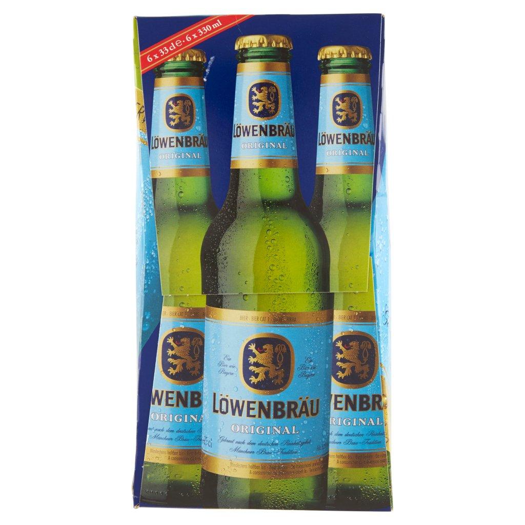 Lӧwenbräu Lowenbrau Original Birra Lager Bavarese Bottiglia 6x33cl