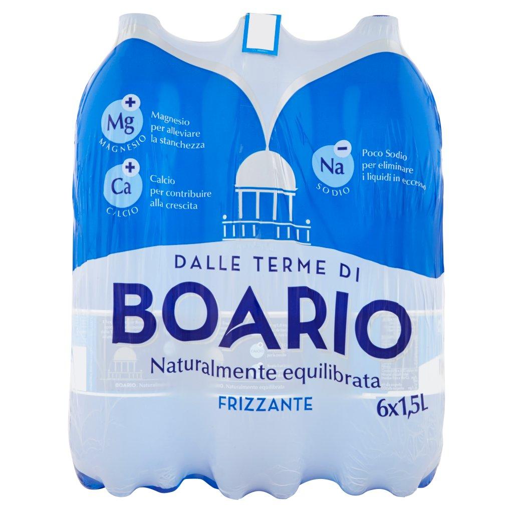 Boario Frizzante 6 x 1,5 l Imballaggio 6 Bottiglie Da 1,5 L 1