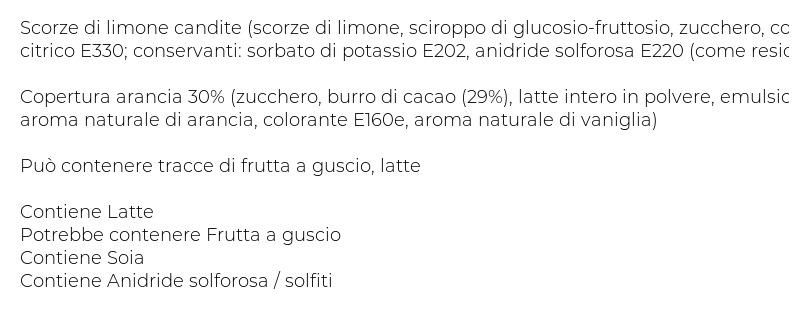 Francesca Filetti di Limone con Copertura all'Arancia